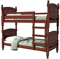 Двухъярусная кровать Bravo Мебель Валерия 90x200 (орех) -