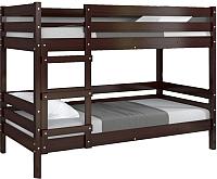 Двухъярусная кровать Bravo Мебель Джуниор 90x200 (орех темный) -