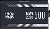 Блок питания для компьютера Cooler Master MWE 500 White (MPE-5001-ACABW-EU) -