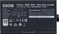 Блок питания для компьютера Cooler Master MWE 600 White (MPE-6001-ACABW-EU) -
