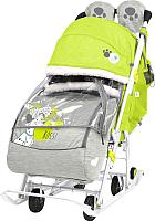 Санки-коляска Ника Disney-Baby 2. Далматинец / DB2/3 (лимонный) -