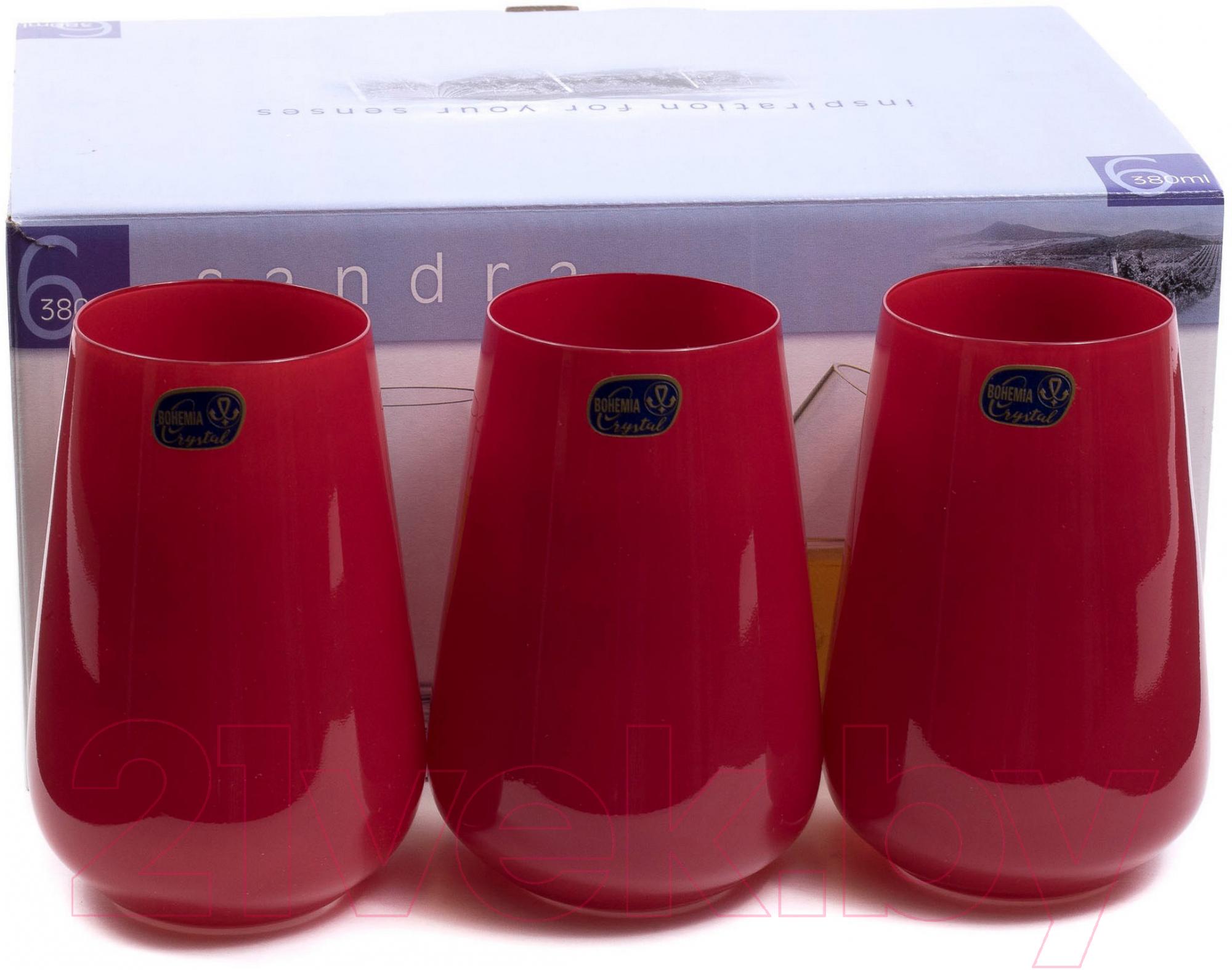 Купить Набор стаканов Bohemia, Crystal Sandra 23013/D4600/380 (6шт), Чехия, стекло