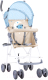 Детская прогулочная коляска Lorelli Light Blue Beige Moon Bear / 10020471955 -