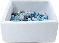 Сухой бассейн Romana Airpool Box ДМФ-МК-02.55.01 (серый, 150 шариков ассорти с серым) -