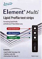 Тест-полоски Infopia Lipid Profile Element Multi (5шт) -
