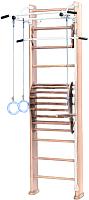 Детский спортивный комплекс Карусель 2Д.03.03 к стене + тренажер для осанки №2 (светлый) -