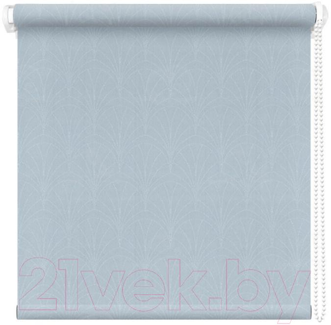 Купить Рулонная штора АС ФОРОС, Веер 52x175 (голубой), Россия, ткань