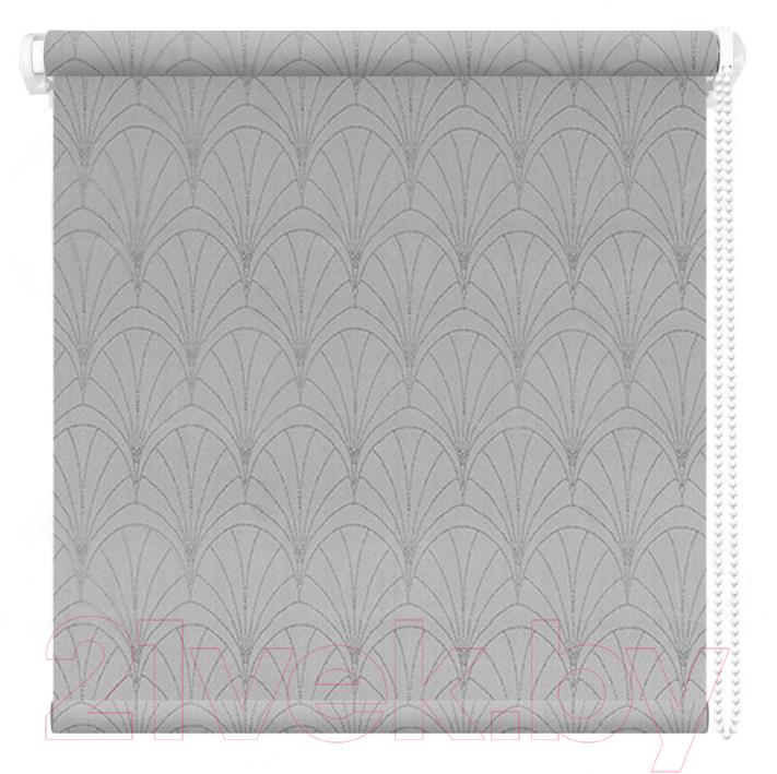 Купить Рулонная штора АС ФОРОС, Веер 38x175 (серый), Россия, ткань