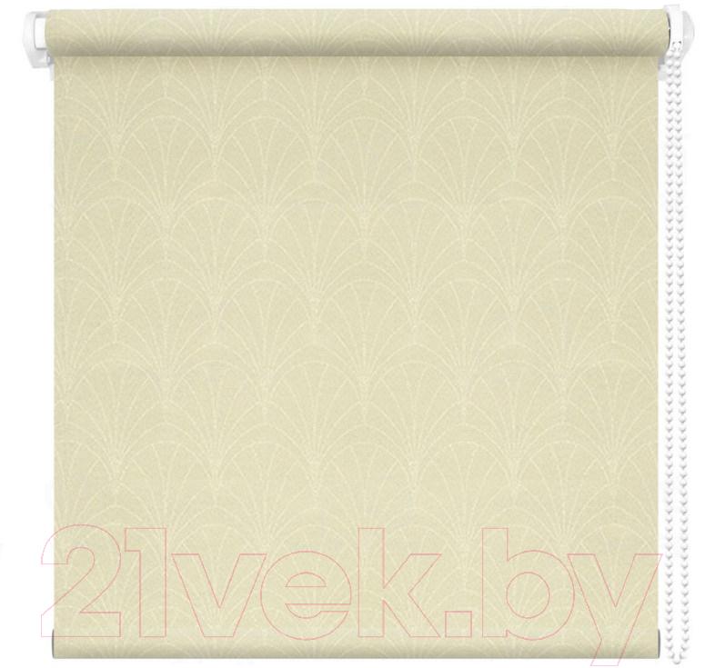 Купить Рулонная штора АС ФОРОС, Веер 57x175 (кремовый), Россия, ткань
