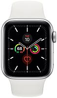 Умные часы Apple Watch Series 5 GPS 40mm / MWV62 (алюминий серебристый/белый) -