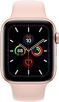 Умные часы Apple Watch Series 5 GPS 44mm / MWVE2 (алюминий золото/розовый песок) -