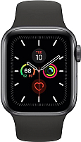 Умные часы Apple Watch Series 5 GPS 44mm / MWVF2 (алюминий серый космос/черный) -
