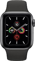 Умные часы Apple Watch Series 5 GPS 40mm / MWV82 (алюминий серый космос/черный) -