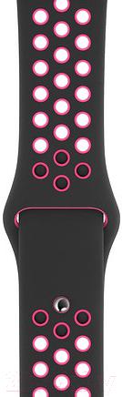 Купить Ремешок для умных часов Apple, Black/Pink Blast Nike Sport Band 44mm / MWUC2, Китай