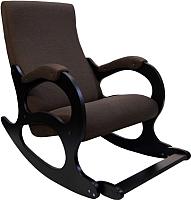 Кресло-качалка Calviano Бастион №4-2 с подножкой (рогожка United 8) -