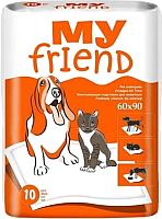 Одноразовая пеленка для животных My Friend 60x90 (10шт) -