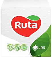 Бумажные салфетки Ruta 330x330 (100шт, белый) -