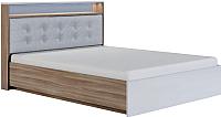 Двуспальная кровать Сакура Виктория №16.1М 160 (шимо светлый/мокко глянец) -