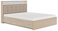 Двуспальная кровать Сакура Виктория №18ПМ 180 (шимо светлый/мокко глянец) -