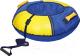 Тюбинг-ватрушка Ника Классический+ / ТБ6К-90 (синий/желтый) -