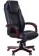 Кресло офисное Бюрократ Т-9923 (темный орех/черная кожа) -