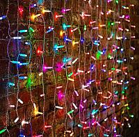 Световой занавес Neon-Night Дождь 235-309-6 (2x1.5м, мультиколор) -