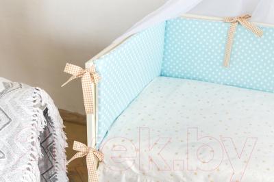Комплект постельный в кроватку Martoo Comfy 3 (голубой/бежевый)