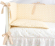 Комплект постельный в кроватку Martoo Comfy 3 (белый/бежевый) -
