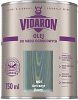 Масло для древесины Vidaron M05 Серый антрацит (750мл) -