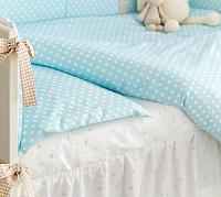Комплект в кроватку Martoo Comfy B / CMB-3-BL (голубой/бежевый) -