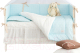 Комплект постельный в кроватку Martoo Basik Comfy 6 (голубой/бежевый) -