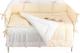Комплект в кроватку Martoo Basik Comfy 6 (белый/бежевый) -