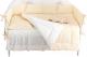 Комплект в кроватку Martoo Basik Comfy 7 (белый/бежевый) -