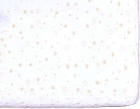 Простыня детская Martoo Comfy 3 (белый/бежевые звезды) -