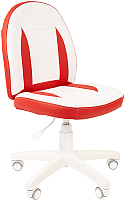 Кресло детское Chairman Kids 122 (экопремиум белый/красный) -