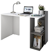 Письменный стол Domus СП017 правый / dms-sp017R-8685-162PE (белый/серый) -