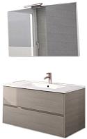 Комплект мебели для ванной Riho Porto SET 05 / FPO080DP4DP4S05 (серый) -