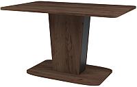 Обеденный стол Сакура Киото №28 (дуб табачный/антрацит) -