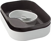 Набор пластиковой посуды Wildo Camp-A-Box Basic / W302610 (светло-серый) -