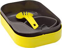 Набор пластиковой посуды Wildo Camp-A-Box Light / W20267 (желто-зеленый) -