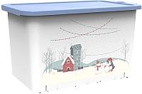 Контейнер для хранения Berossi Christmas ИК52961000 (васильковый) -