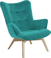 Кресло мягкое Atreve Angel (бирюзовый KR13/бук) -