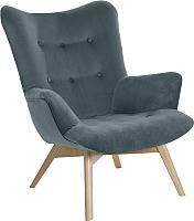 Кресло мягкое Atreve Angel (серый PA06/бук) -