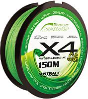 Леска плетеная Mistrall Shiro Bl Green 0.08мм 150м / ZM-3420008 -