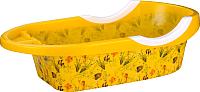 Ванночка детская Альтернатива Рыбки / М6418 (желтый) -