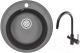 Мойка кухонная Granula GR-4802 + смеситель GR-35-09L (черный) -