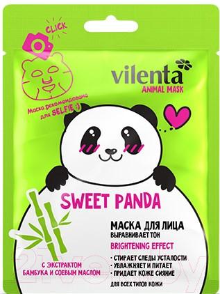 Купить Маска для лица тканевая Vilenta, Animal Mask Sweet Panda с экстр. бамбука и соевым маслом, Китай, Animal Mask (Vilenta)
