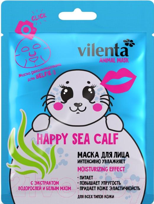 Купить Маска для лица тканевая Vilenta, Vilenta Animal Mask Happy Sea Calf эк-т. водоросл. и белым мхом, Китай, Animal Mask (Vilenta)