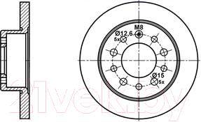 Тормозной диск ATE, 24011002981, Германия  - купить со скидкой