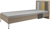 Односпальная кровать Сакура Александрия № 12 90 (антрацит/дуб ирландский) -